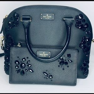 Kate Spade Sequin Black Beaded Embellishment Bag